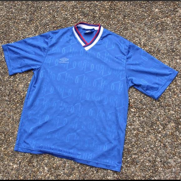 Vintage Umbro Soccer Jersey Allover Print
